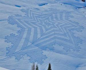 New trampled snow art from simon beck colossal for Simon beck snow art