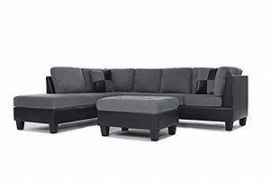 3 piece sofa set 3 piece modern microfiber faux leather for Microfiber faux leather 3 piece sectional sofa set