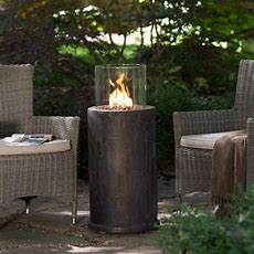 Red Ember Kona Gas Fire Column With Free Cover  Fire Pits