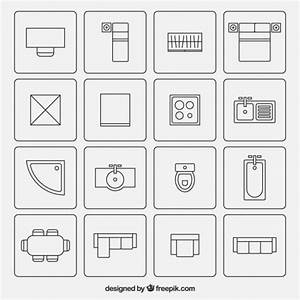Grundriss Symbole Architektur : furniture symbols used in architecture plans vector free ~ Lizthompson.info Haus und Dekorationen