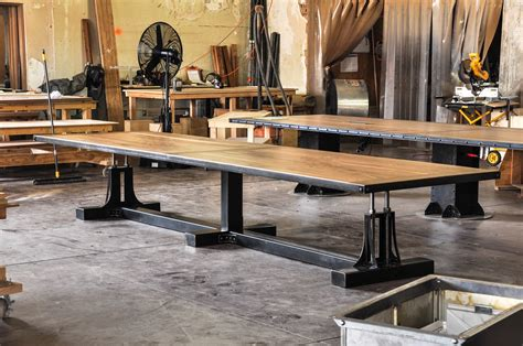 kitchen islands seating post industrial conference table vintage industrial