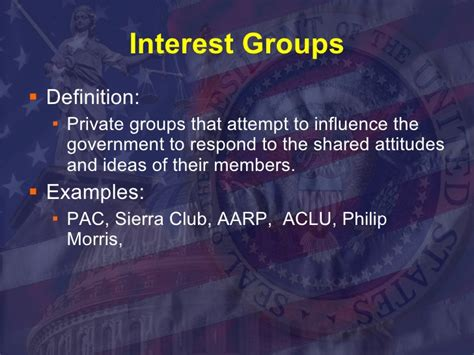 interest groups political parties definition private phpapp01 influence