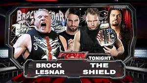 WWE Raw Old School Brock Lesnar Vs The Shield Full Match ...