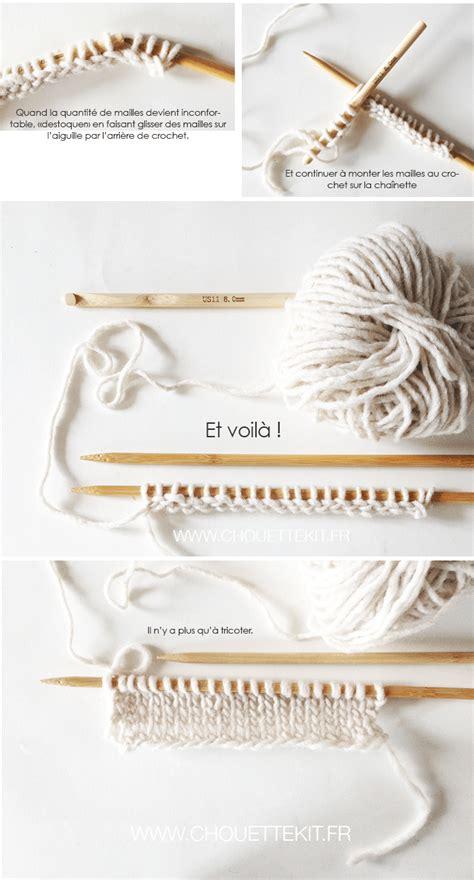monter des mailles tricot monter des mailles au crochet mais pour le tricot chouette kit