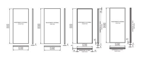 porte interne misure standard disegni tecnici timack