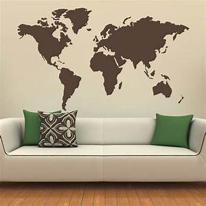 vinyl chalkboard sticker wall decals removable blackboard With best brand of paint for kitchen cabinets with world map sticker wall art