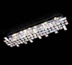 Led Deckenlampe Bad : led deckenlampe 43 69cm kristall wand led decken leuchte ~ Watch28wear.com Haus und Dekorationen