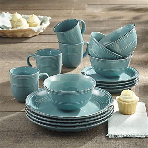 American Atelier 16 Piece Madelyn Blue Dinnerware Set
