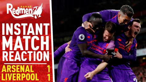 Arsenal 1-1 Liverpool   Instant Match Reaction - The Redmen TV