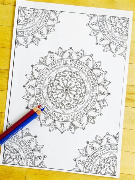 Designs Mandala Draw Easy Corner