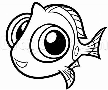 Dory Characters Draw Disney Drawing Coloriage Cartoon