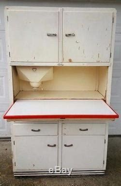 Antique Original 1934 Sellers Kitchen Hoosier Cabinet With