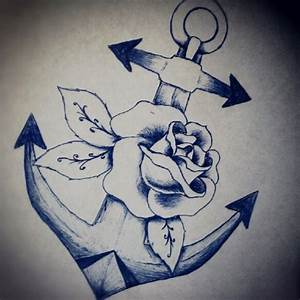 20+ Anchor With Rose Tattoo Designs