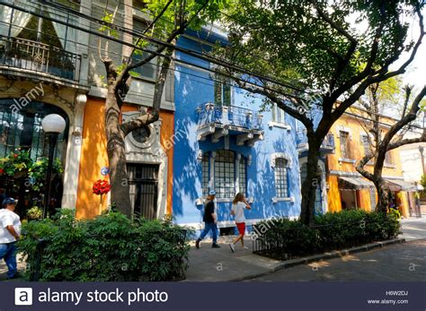 Roma Mexico City Colima Street Shops And Homes In The Roma Neighborhood Of
