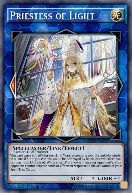 Spellcaster Deck Yugioh Duel Links by Priestess Of Light Advanced Card Design Yugioh Card