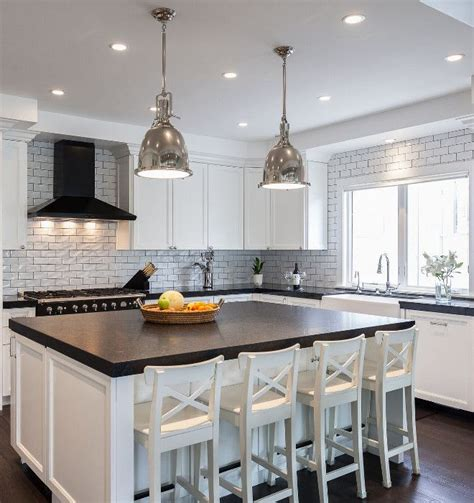 How Thick Is Quartz Countertop by Thick Quartz Countertop And White Crackle Subway Tile