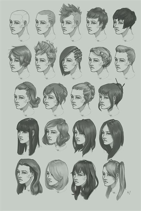 hairstyle study  artofhkm  deviantart