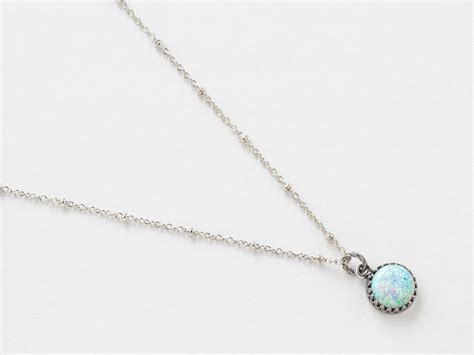 white opal necklace silver opal necklace white opal pendant australian opal