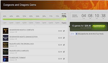 gog discounts baldurs gate dungeons dragons titles