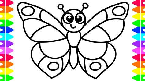 easy coloring pages learn how to draw a butterfly easy coloring pages for