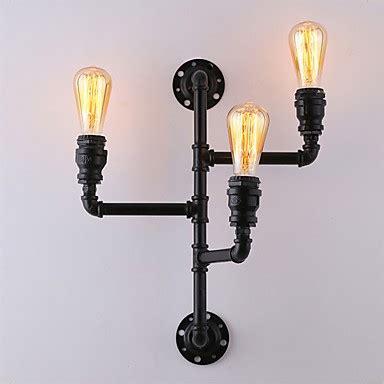 vintage industrial pipe wall lights black creative lights