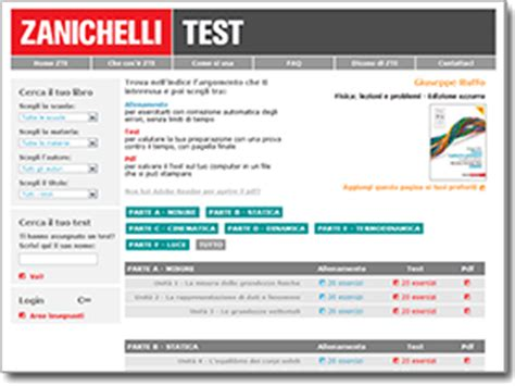 test fisica zanichelli esercizi interattivi 171 ruffo fisica lezioni e problemi
