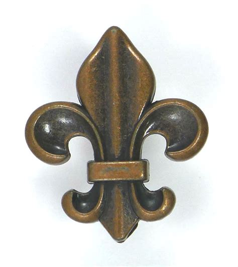 Fleur De Lis Cabinet Door Knobs by Fleur De Lis Drawer Cabinet Knobs Pull Copper Color Finish
