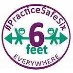 Safe Practice Six Feet Apart Stay Icon