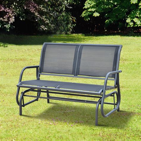 outdoor glider bench outsunny 48 quot outdoor patio swing glider bench