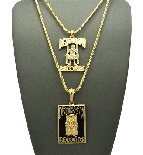 jesus necklace gold plated row records pendant datnewice