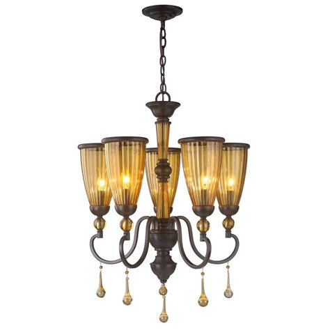 world imports 5 light rubbed bronze chandelier with