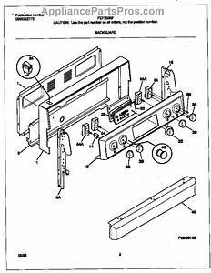 Parts For Frigidaire Fef353bfwe  Backguard Parts