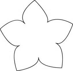 Simple Flower Stencil Outline