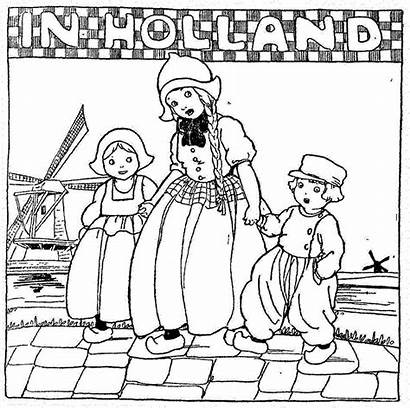 Paper Printable Coloring Pages Dolls Doll Holland