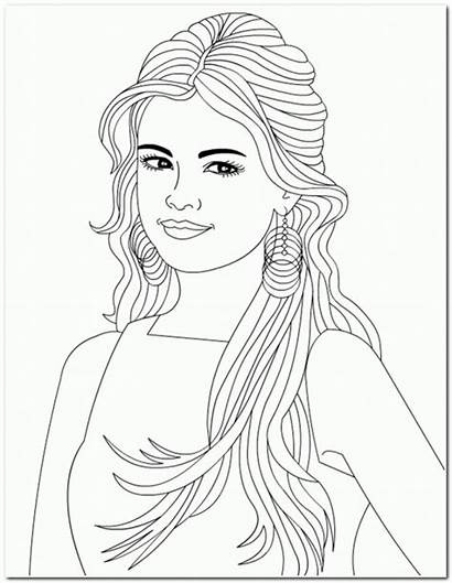 Coloring Hair Pages Drawing Nicole Selena Place