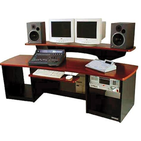 omnirax presto 4 studio desk mahogany omnirax 24 multi purpose audio workstation