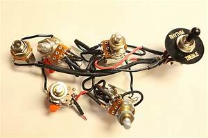 Jimmy Page Custom Guitar Wiring Harness  500k Push  Pull
