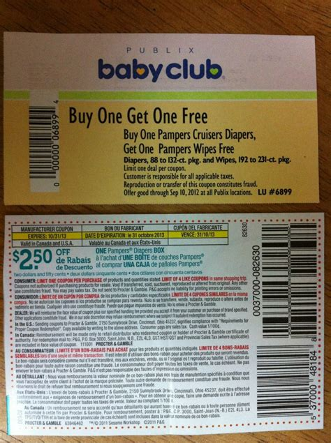 PUBLIX: Pampers diapers/wipes coupon giveaway