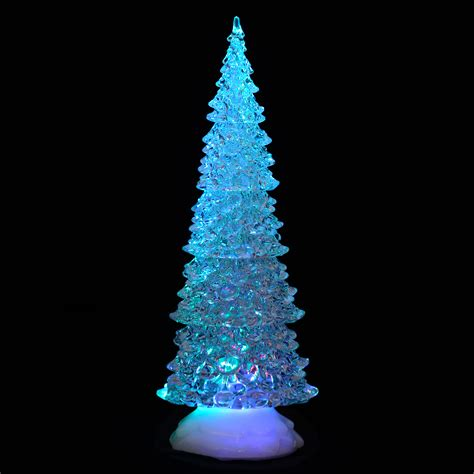 light up led acrylic tree ornament decoration