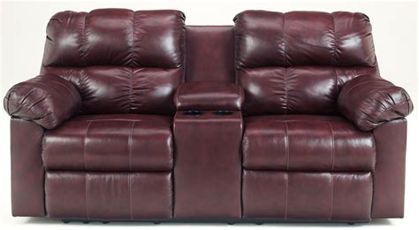 Coleman Loveseat by Kennard Burgundy Power Reclining Loveseat With