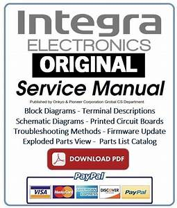 Integra Dtr 80 2 Av Receiver Service Manual And Repair