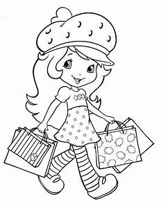 Strawberry Shortcake Coloring Pages For Christmas Fun