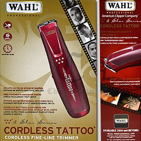 wahl star cordless tattoo hair trimmer