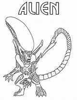 Alien Coloring Pages sketch template