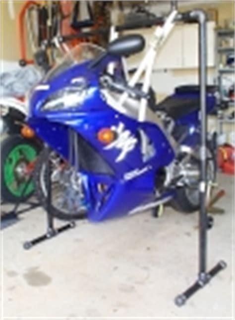 homemade motorcycle wheel chock homemadetoolsnet