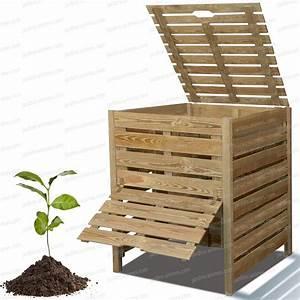Composteur Pas Cher : composteur bois 800l en pin trait branchage engrais et feuilles mortes ~ Preciouscoupons.com Idées de Décoration