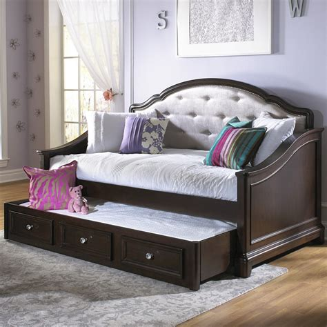 girls glam daybed dark cherry kids daybeds  hayneedle