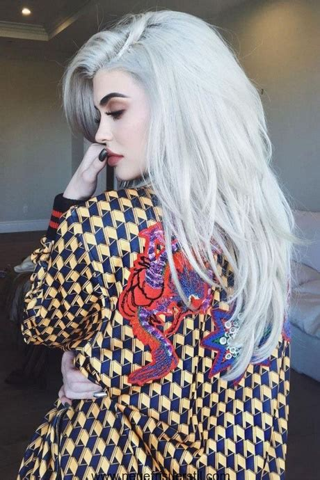 silber blond haare haare trend 2018