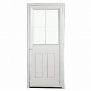 Porte D Entrée Blanche : porte d 39 entr e pvc fermi re vitr e et blanche poussant ~ Melissatoandfro.com Idées de Décoration