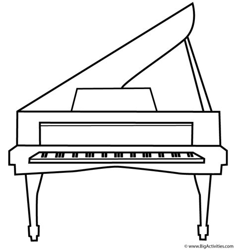 piano coloring pages piano coloring page musical instruments